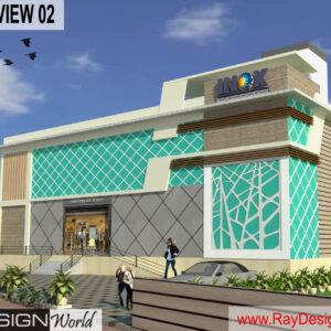 Multiplex Exterior Design view 02- Kodad Suryapet Telangana - Mr. N Ranga