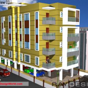 Apartment Exterior Design view 03 - Patna Bihar - Mr. Nil Ratanam Abhijatam