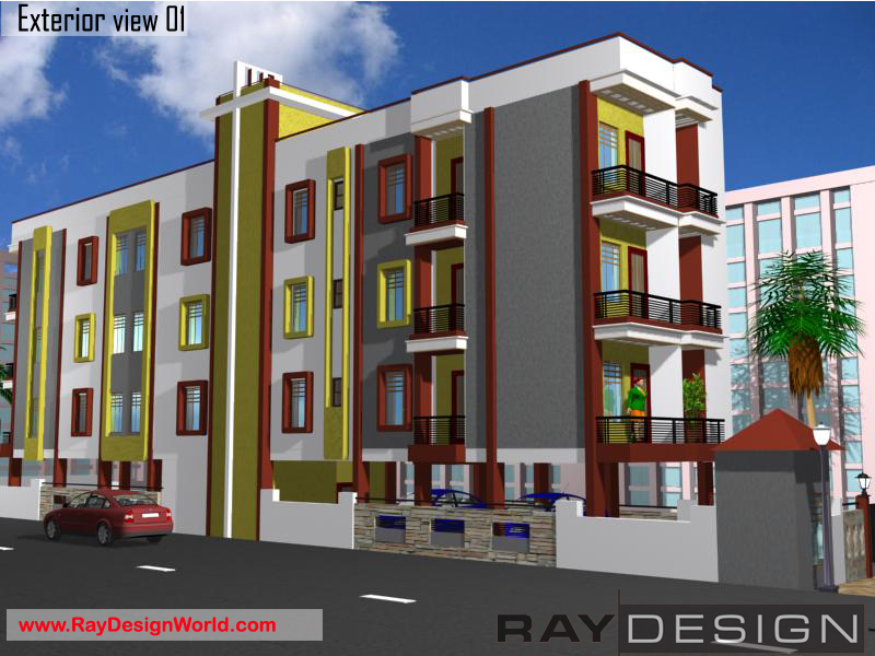 Apartment Exterior Design view 01 - Nawada Bihar - Mr. Om Prakash Sahu