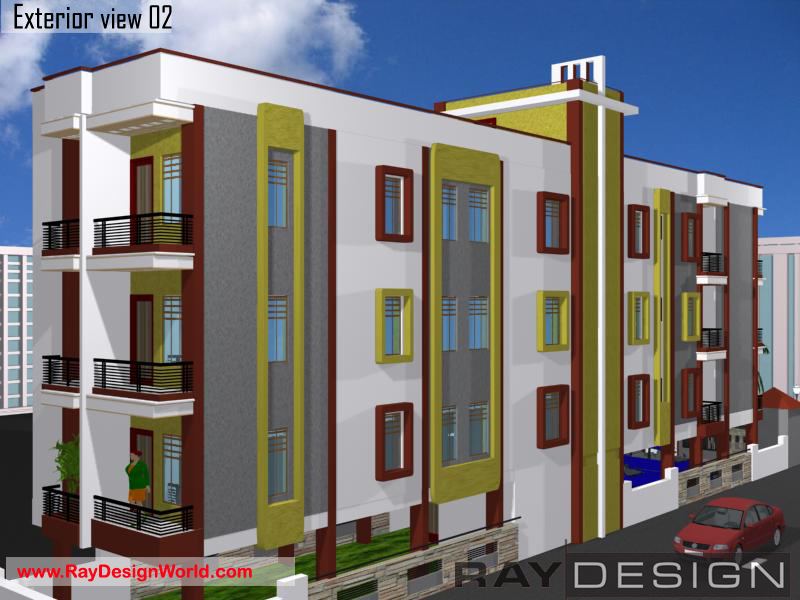 Apartment Exterior Design view 02 - Nawada Bihar - Mr. Om Prakash Sahu