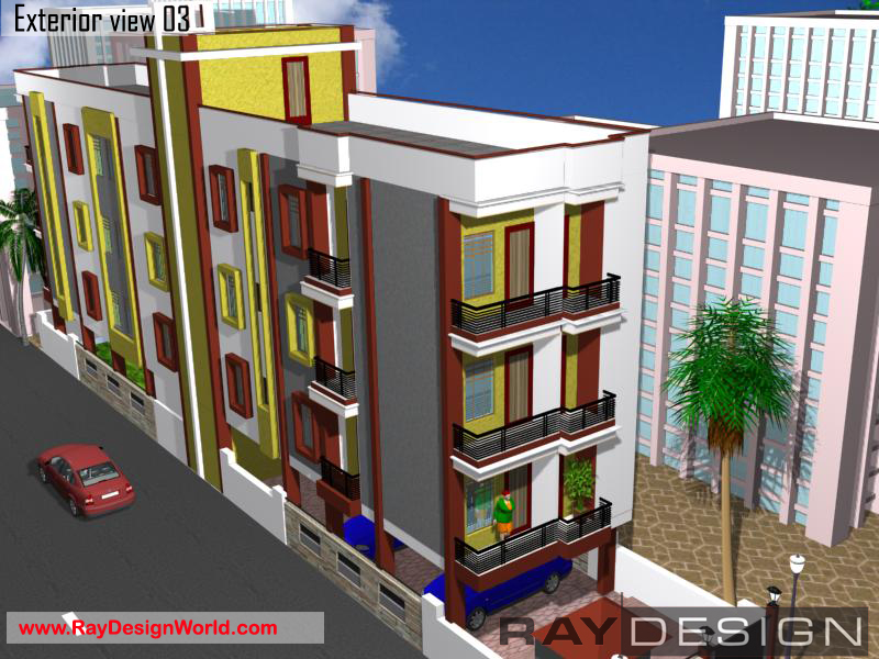 Apartment Exterior Design - Nawada Bihar - Mr. Om Prakash Sahu