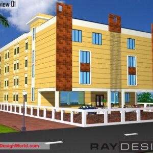 School Exterior Design view 01 - Dimapur Nagaland - Mr. Prakash Paira