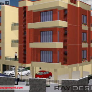 Apartment Exterior Design view 03 - Punjab - Mr.Hardeep Ahuja