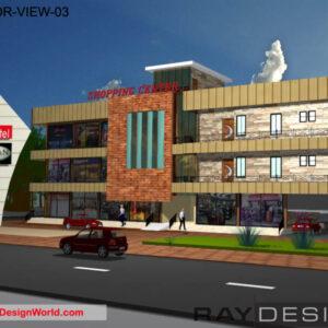Shopping Complex Exterior Design view 03- Luanda Angola Africa - Mr.Jose Catarino Andre