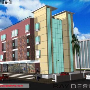 Shopping Complex Exterior Design view 01 - Amravati Maharashtra - Mr.Manoj