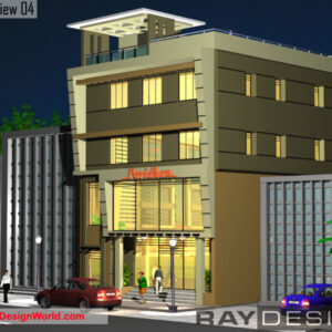 Showroom Exterior Design view 04 - Chennai Tamilnadu - Mr.Mohmad Ibrahim