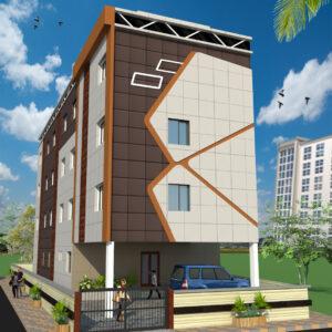 Guest House Exterior Design view 01 - Keonjhar Odish - Mr.Sarat Chandra Parida