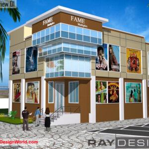 Multiplex Exterior Design 01 - Cochin Ernakulam Kerala